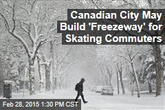 Canadian City May Build 'Freezeway' for Skating Commuters