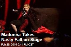 Madonna Takes Nasty Fall on Stage