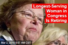 Longest-Serving Woman in Congress Is Retiring