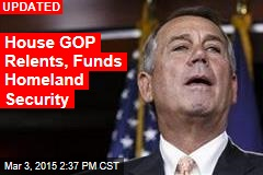 House GOP Gives Up DHS Funding Fight