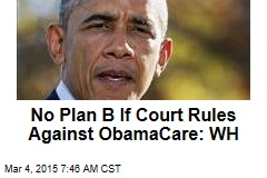 No Plan B If Court Rules Against ObamaCare: WH
