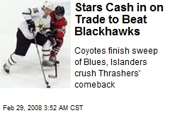 Stars Cash in on Trade to Beat Blackhawks