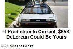 Museum Giving Away $85K DeLorean*