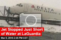Plane Skids Off LaGuardia Runway