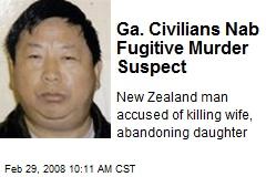 Ga. Civilians Nab Fugitive Murder Suspect