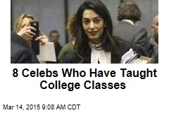 8 Celebs Who Have Taught College Classes