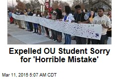 Expelled OU Student Sorry for 'Horrible Mistake'