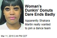 Woman's Dunkin' Donuts Dare Ends Badly