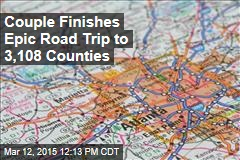 Couple Finishes Epic Road Trip to 3,108 Counties