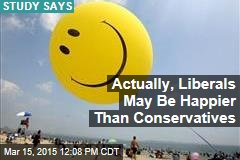 Actually, Liberals May Be Happier Than Conservatives