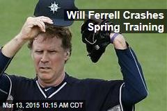 Will Ferrell Crashes Spring Training