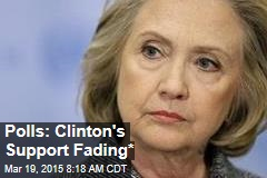 Polls: Clinton's Support Fading*