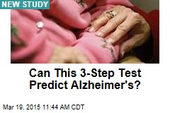 Can This 3-Step Test Predict Alzheimer's?