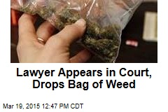 Lawyer Appears in Court, Drops Bag of Weed
