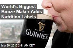 World's Biggest Booze Maker Adds Nutrition Labels