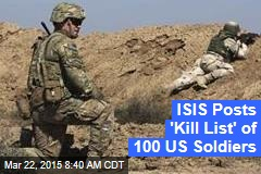 ISIS Posts 'Kill List' of 100 US Soldiers