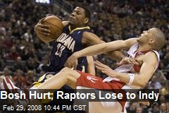 Bosh Hurt; Raptors Lose to Indy