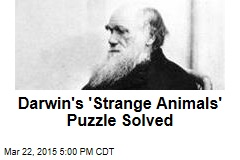 Darwin's 'Strange Animals' Puzzle Solved