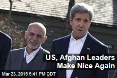US, Afghan Leaders Make Nice Again