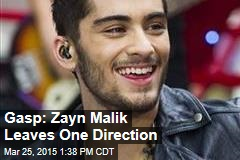 Gasp: Zayn Malik Leaves One Direction