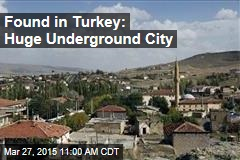 Found in Turkey: Huge Underground City