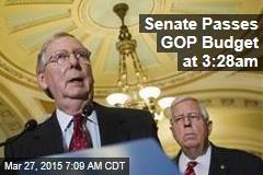 Senate Passes GOP Budget at 3:28am