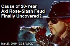 Cause of 20-Year Axl Rose-Slash Feud Finally Uncovered?