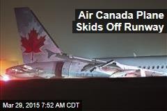 Air Canada Plane Skids Off Runway