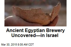 Ancient Egyptian Brewery Uncovered—in Israel