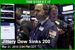 Jittery Dow Sinks 200