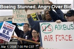 Boeing Stunned, Angry Over Bid