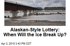 Alaskan-Style Lottery: When Will the Ice Break Up?