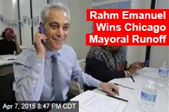 Rahm Emanuel Wins Chicago Mayoral Runoff