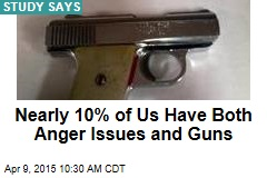 Nearly 10% of Americans Have Both Anger Issues and Guns