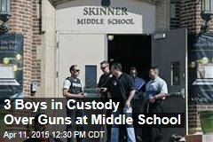 3 Boys in Custody Over Guns at Middle School