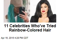 11 Celebrities Who've Tried Rainbow-Colored Hair