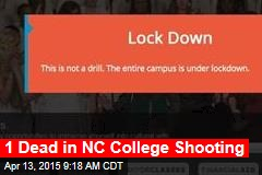 1 Dead in NC College Shooting