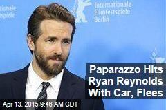 Paparazzo Hits Ryan Reynolds With Car, Flees