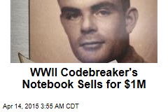 WWII Codebreaker's Notebook Sells for $1M