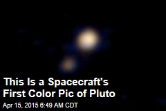 This Is a Spacecraft's First Color Pic of Pluto