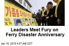 Leaders Meet Fury on Ferry Disaster Anniversary
