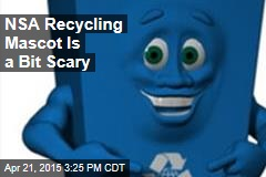 NSA Recycling Mascot Is a Bit Scary