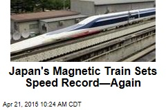 Japan's Magnetic Train Sets Speed Record—Again