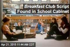 Breakfast Club Script Found in School Cabinet