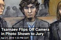 Tsarnaev Flips Off Camera in Photo Shown to Jury