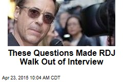 These Questions Made RDJ Walk Out of Interview