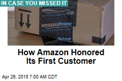 How Amazon Honored Its First Customer