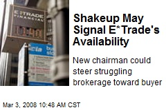 Shakeup May Signal E*Trade's Availability