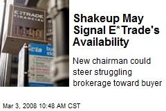 Shakeup May Signal E*Trade's Availability