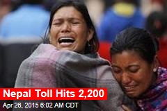 Nepal Toll Hits 2,150